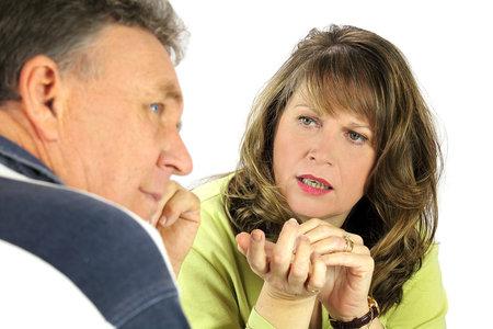 couple discussion, man looking away disregard disrespect thoughtful ignoring
